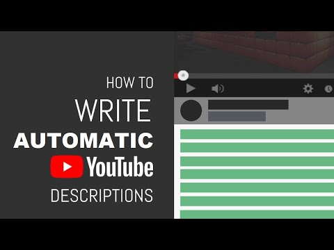 How I create my Default Video Description Template for my newly uploaded YouTube Videos?