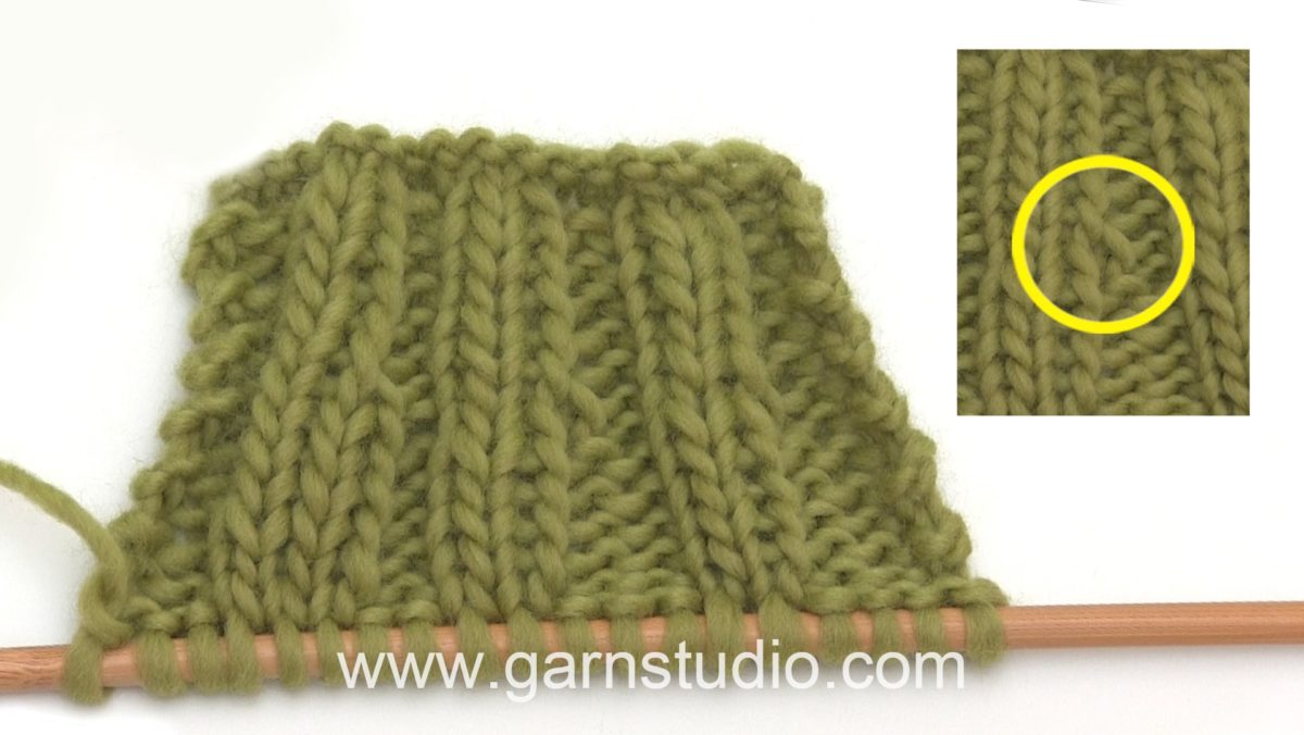 How to increase in purl stitches