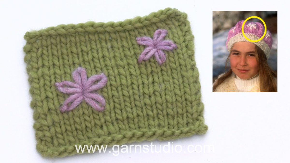 How to embroider a flower