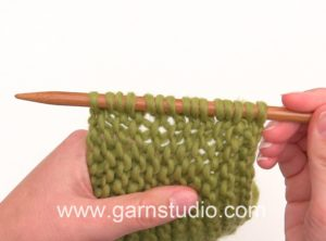 How to pick up stitches along garter edge