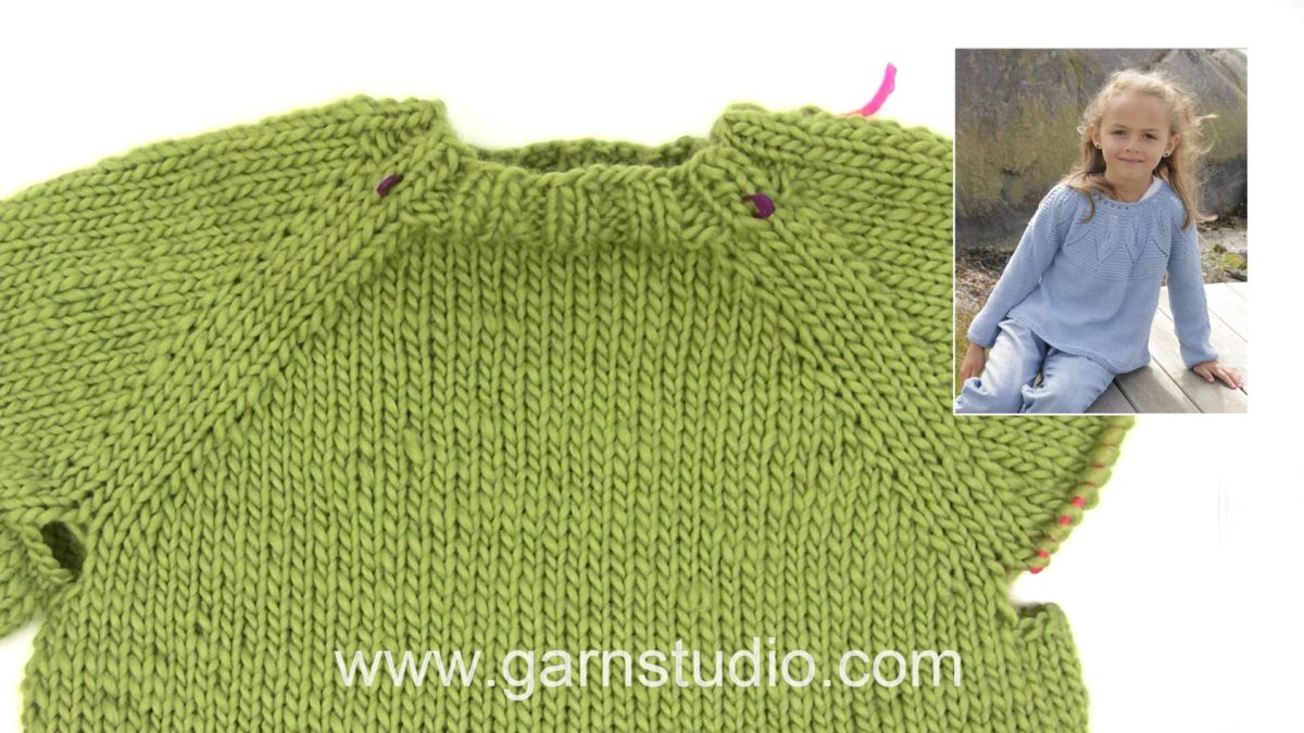 How to knit a jumper top down