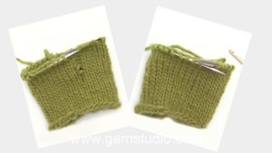 How to pick up a dropped stitch