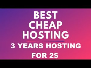 Cheap Hosting Offer: Get 3 Years of Web Hosting for 2$