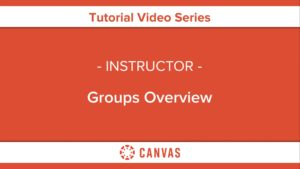 312 – Groups Overview