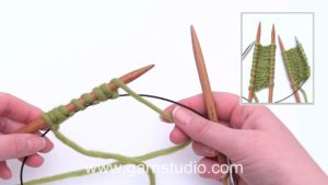 How to make a provisional cast on with waste yarn or circular needle