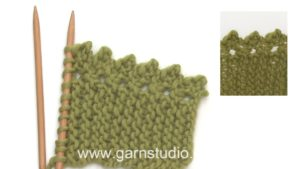 How to knit a lace picot edge