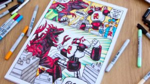 How to draw a (bit of a) Comic Book