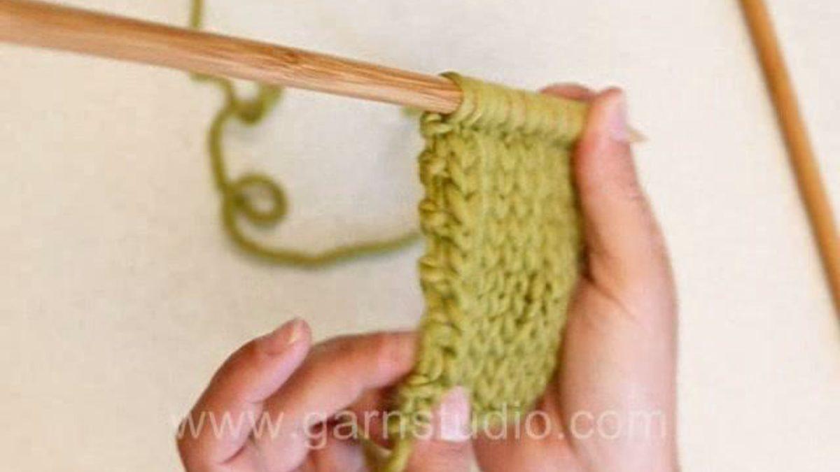 How to knit edge stitches in garter stitch