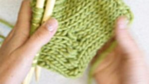 How to knit the diagonal shaping on the heel of a sock