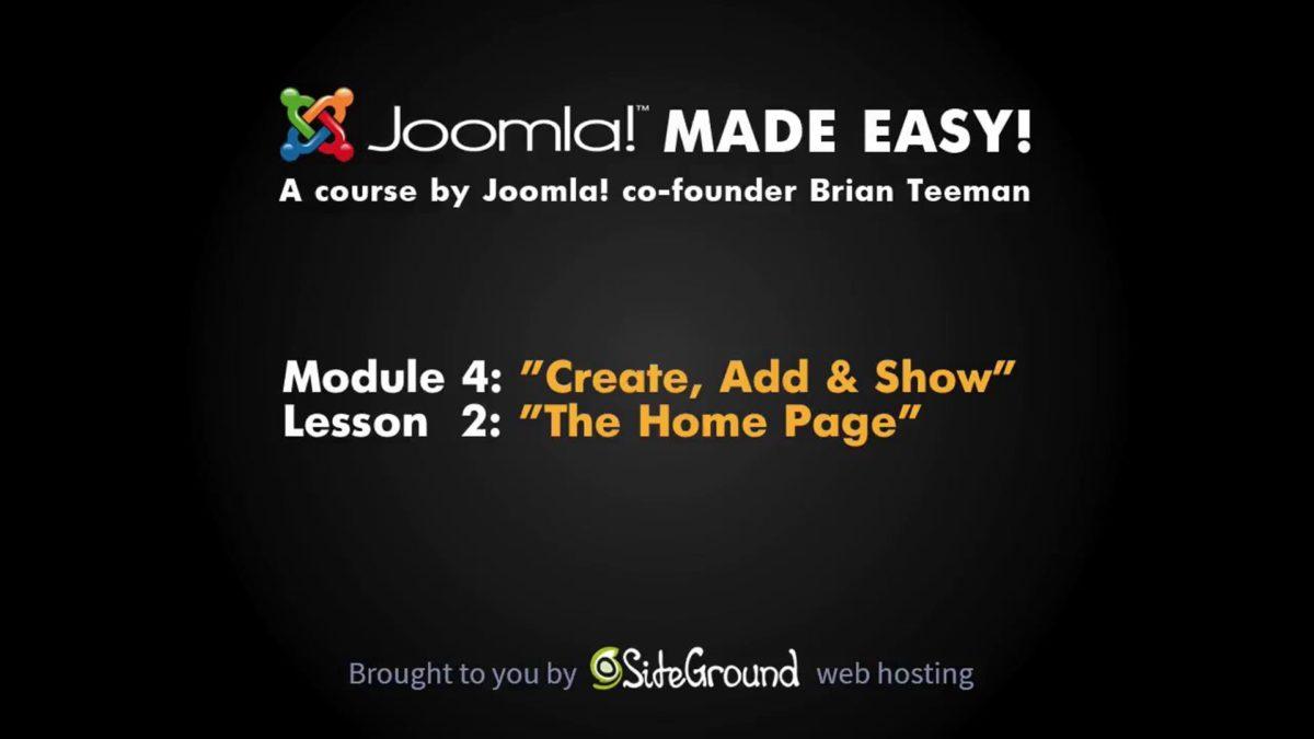 4.2 – Frontpage Content