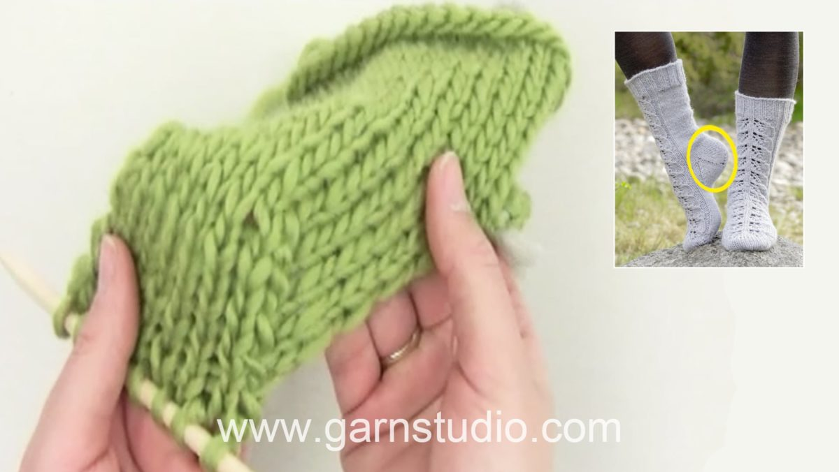 How to decrease for the heel on a sock (standard method)