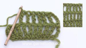 How to crochet a double treble (dtr) US / triple treble UK