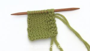 How to knit a front edge in double yarn