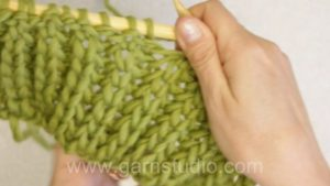 How to work Fishermans Rib using only knit stitches