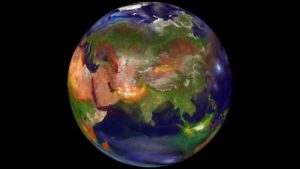 Watch particles swirl in the world's atmosphere
