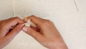 How to crochet beads into work