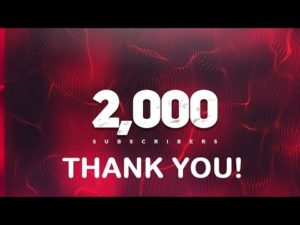 Thank you for reaching 2000 subs!