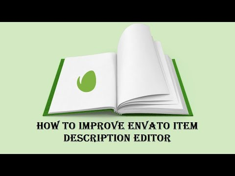 """Suggestion on how to improve Envato's """"Item Description"""" and """"Author Profile"""" HTML Editors"""