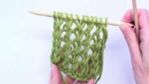 How to knit a basic lace pattern with 1 yo, K2 together