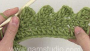 How to crochet loops along an edge