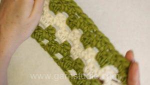 How to crochet granny stripes