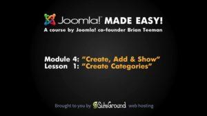 4.1 – Create Categories