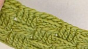 How to crochet the basket pattern in DROPS 163-16