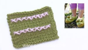 How to embroid cross stitches