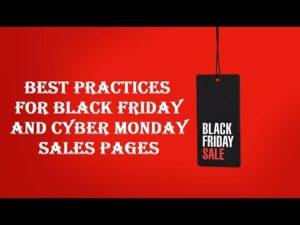 Best practices for Black Friday and Cyber Monday pages [from Google Webmaster Central Newsletter]