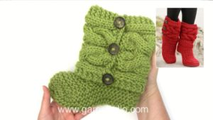 How to knit and assembly the slippers in DROPS 150-4