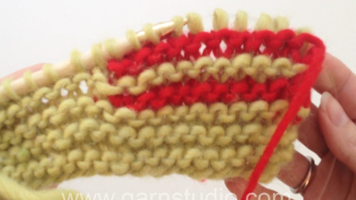 How to knit short rows in garter st with wrap