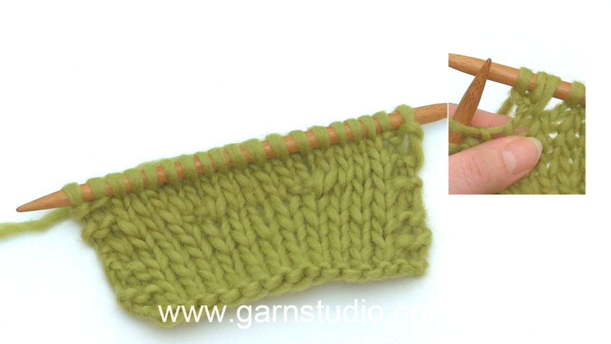 How to increase 2 stitches by knitting 3 stitches into 1 stitch