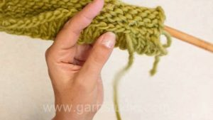 How to knit a folded hem