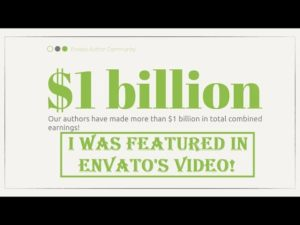 I was featured in Envato's $1bln Community Earnings Video! Thank you, Envato!