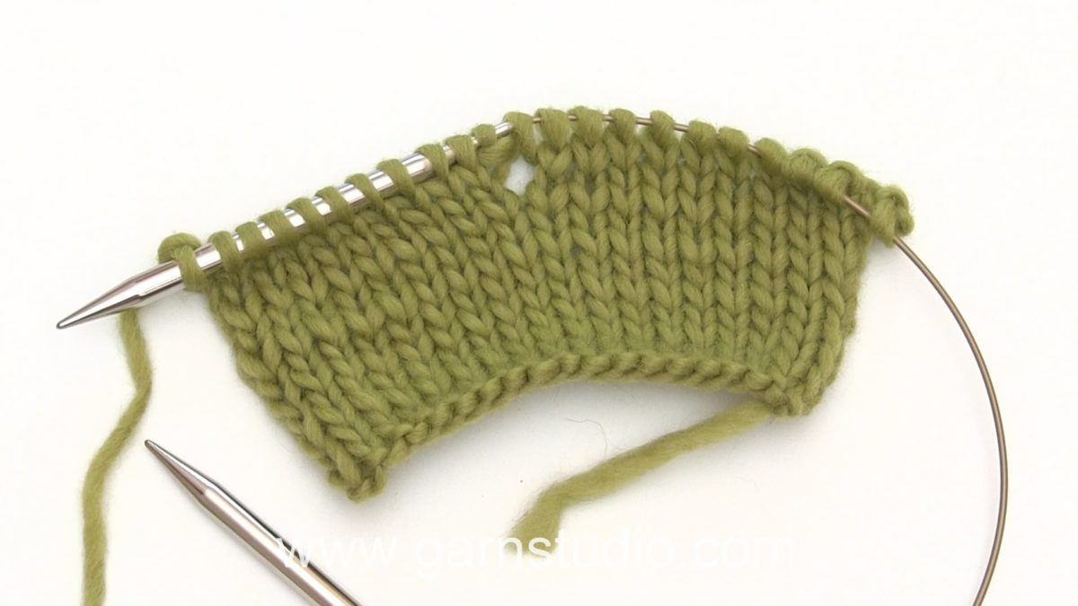 How to knit into 2 yarn overs (yo)