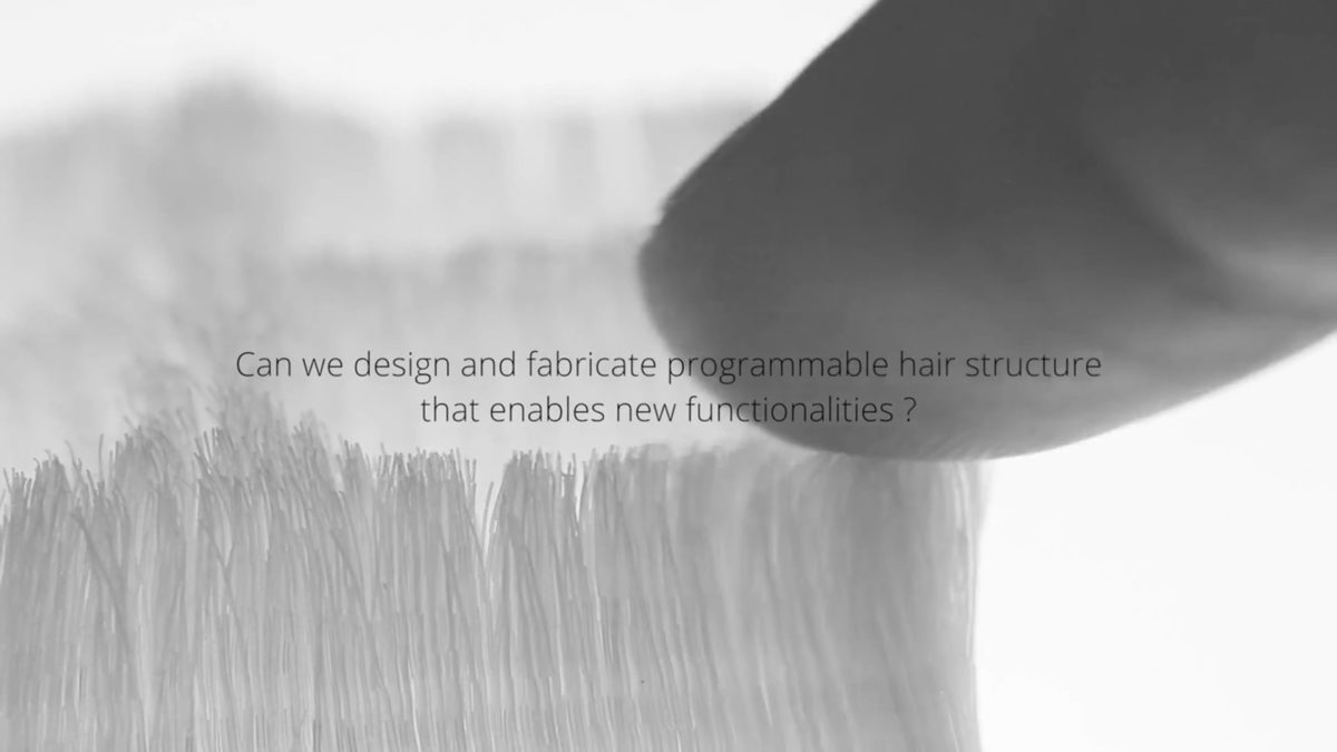 Cilllia – 3D Printed Hair Structures for Surface Texture, Actuation and Sensing