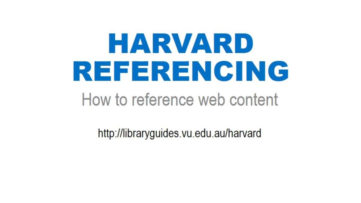 Harvard Referencing: web content