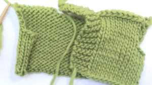 How to knit an easy shawl collar