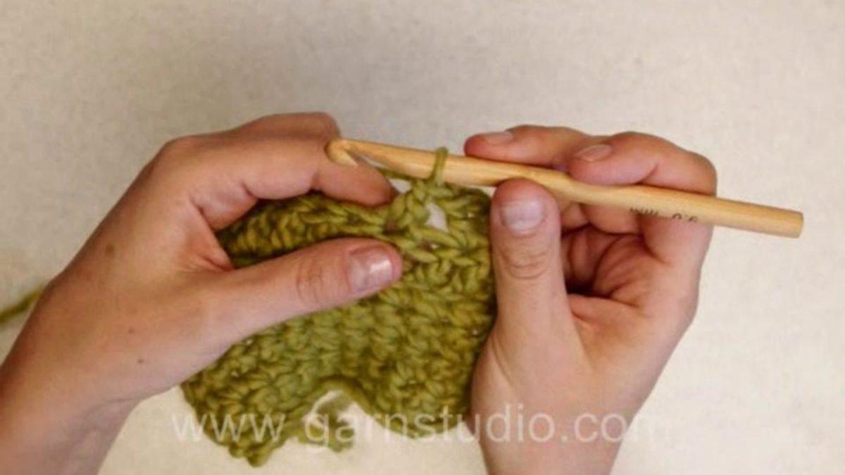 How to crochet treble cross stitch