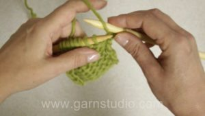How to do a yarn over when purling (wrong side of work)
