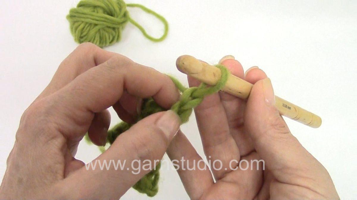 How to turn when crocheting double crochet (UK) / single crochet (US)