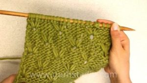 How to knit a long stitch pattern