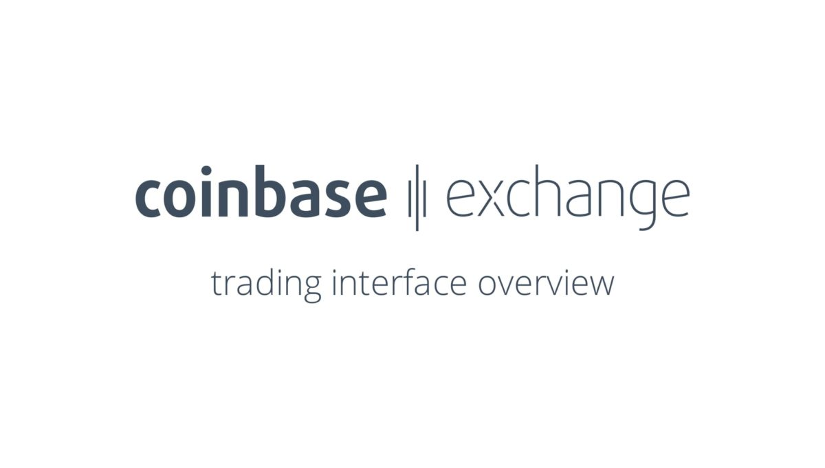 Coinbase Exchange interface overview