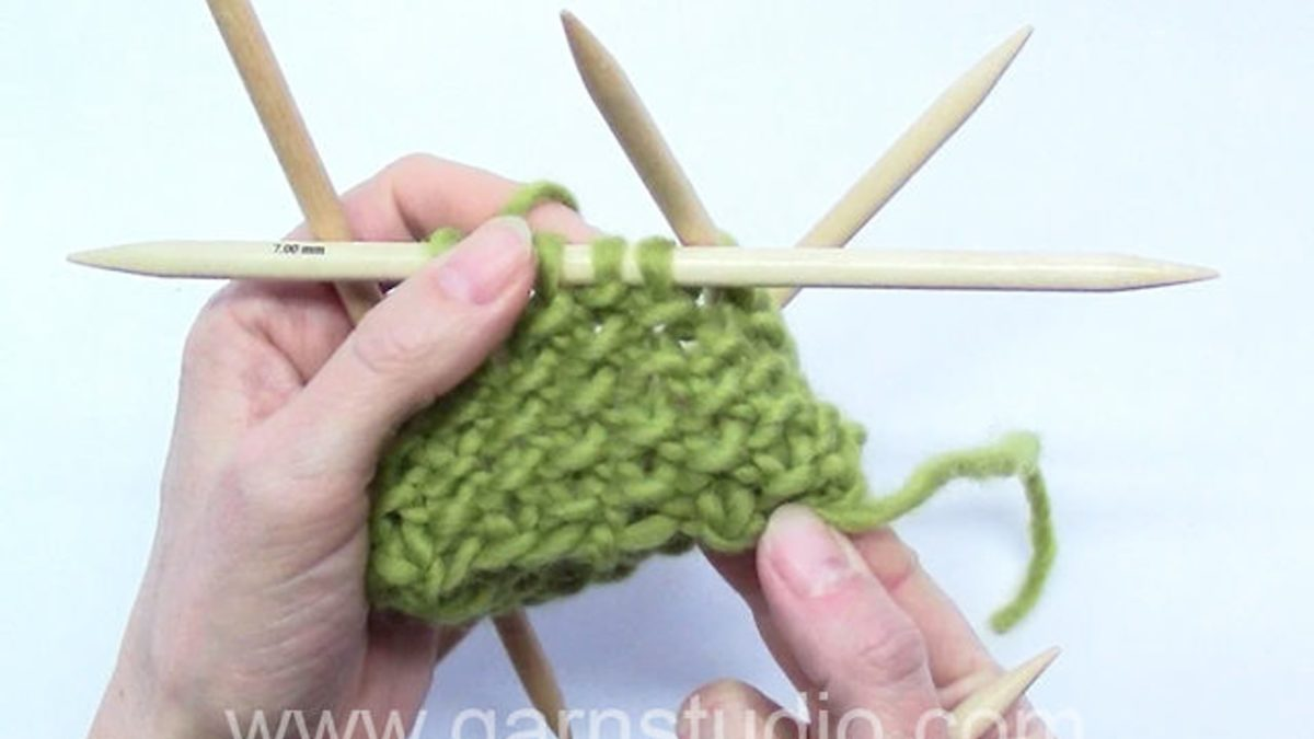 How to knit Seed stitch / Moss stitch in the round