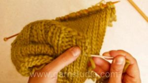 How to knit a fake pocket flap