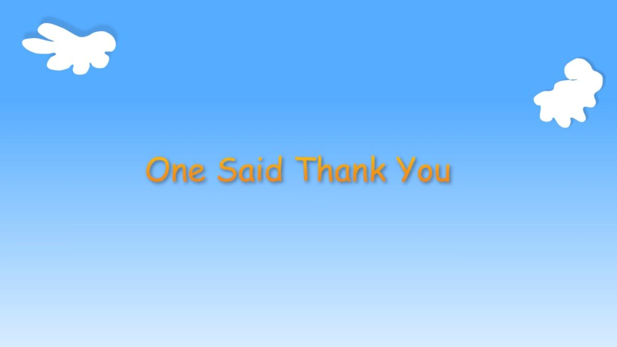 "Kindergarten Year A Quarter 2 Episode 8: ""One Said Thank You"""