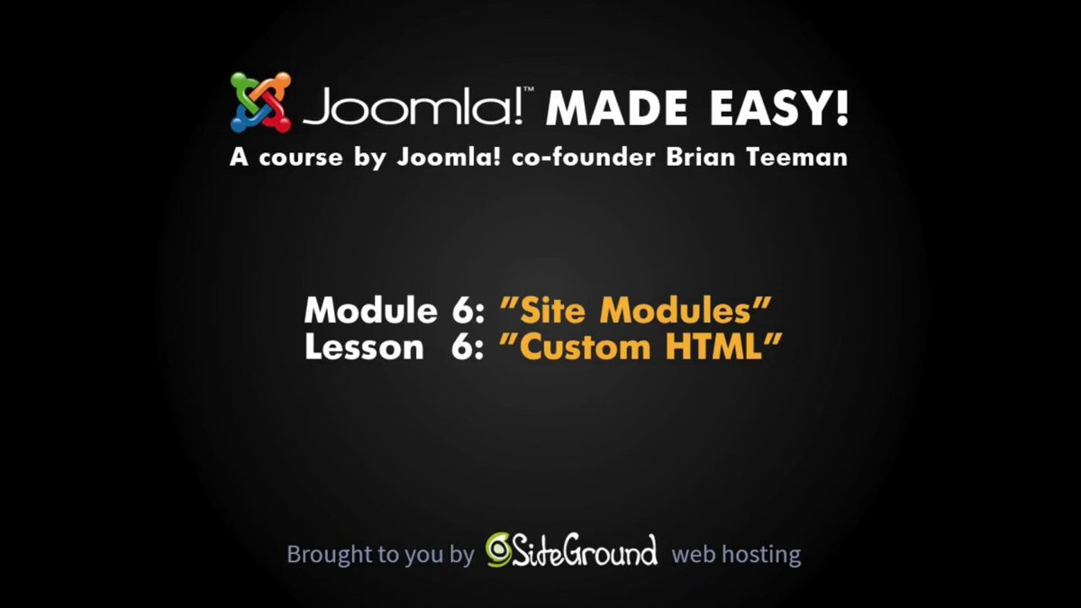 6.6 – Custom HTML