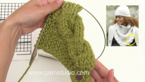 How to knit the cable edge in DROPS 172-10