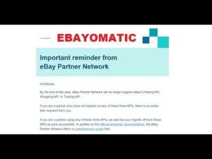 Ebayomatic 4.0 update: plugin working with the new eBay Browse API (instead of the old Finding API)