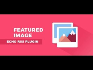 Echo RSS plugin update: featured image selector support added